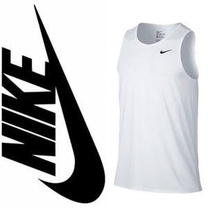 Nike - Men's White Tank Top - Grey Logo